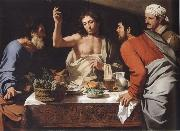 CAVAROZZI, Bartolomeo The meal in Emmaus oil